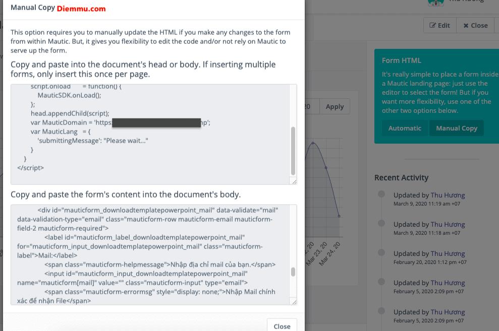 Copy HTML của Form