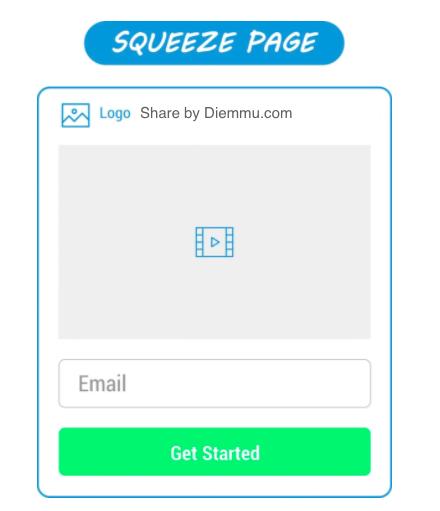 Squeeze Page đơn giản