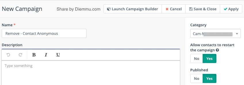 Campaign Delete Contact