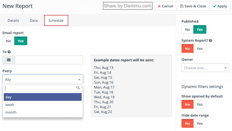 Schedule Reports